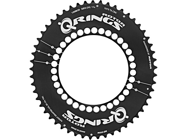 Rotor Q-Ring Road Aero Chain Ring 130mm 5-Arm outside black